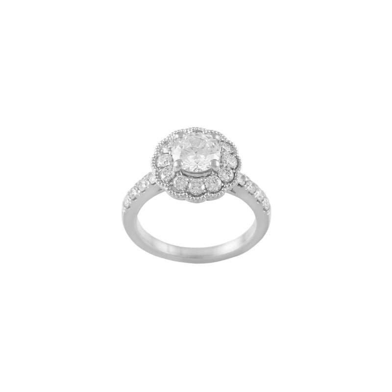 Pugh's Signature Ladies' 14k White Gold 1/2 Ct CZ Ring