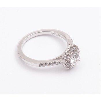 Ladies' 14k White Gold 1/2 Ct CZ Ring