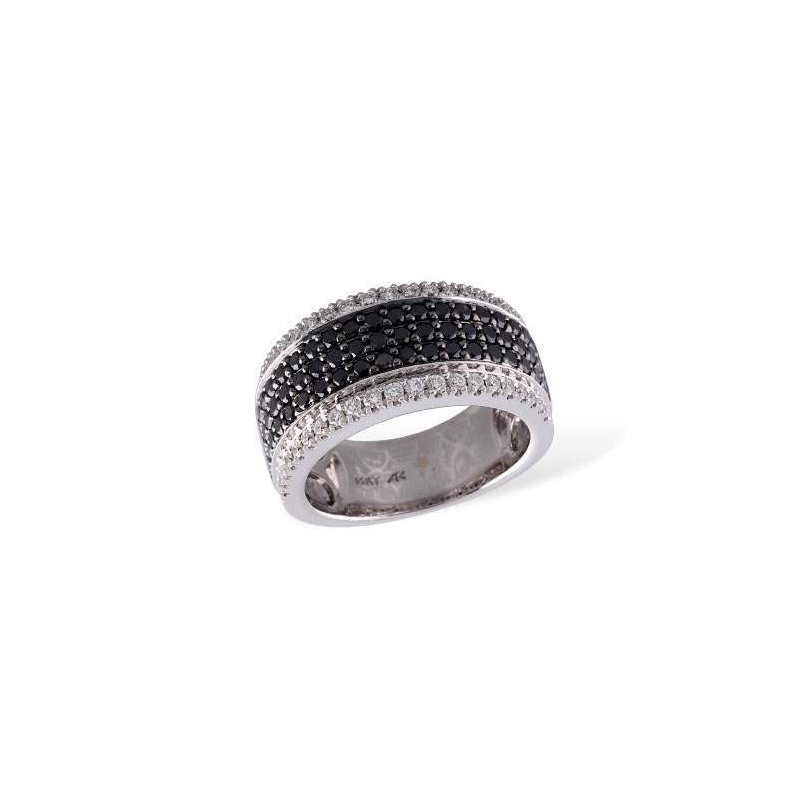 Allison-Kaufman 14k White Gold Black Diamond Ring