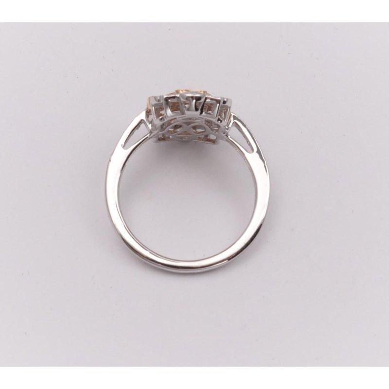 Allison-Kaufman 14k White And Yellow Gold Diamond Ring