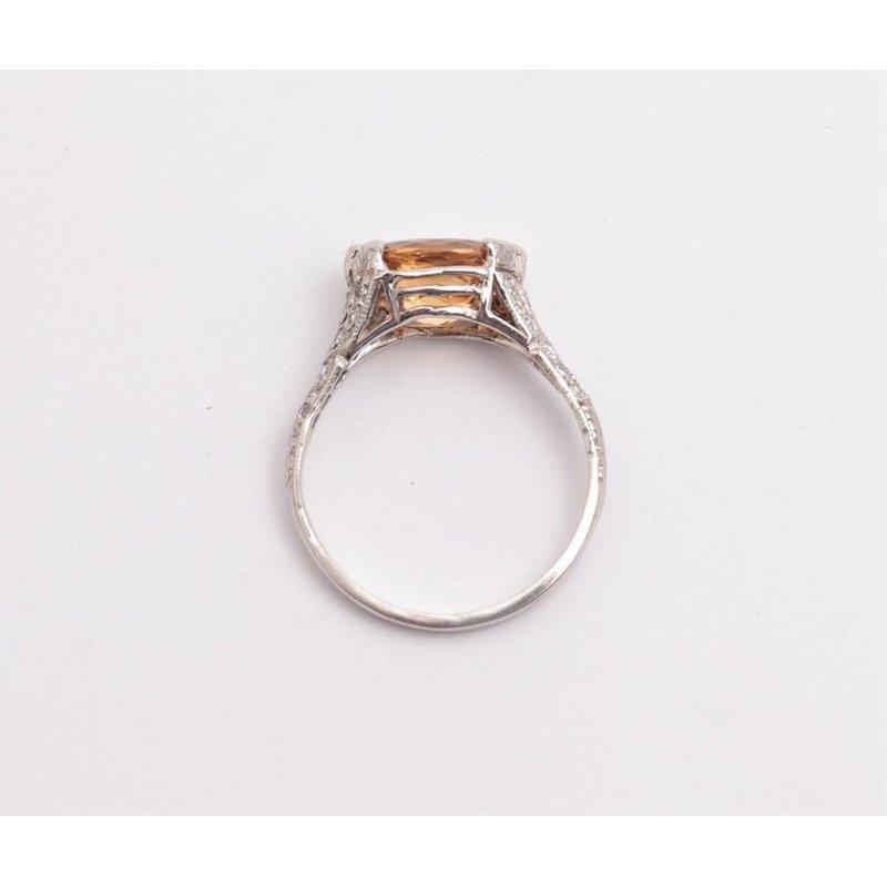 Pugh's Signature Ladies' Platinum Imperial Topaz and Diamond Ring