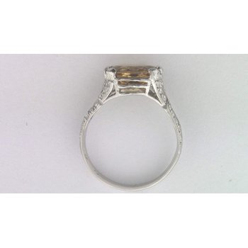 Ladies' Platinum Imperial Topaz and Diamond Ring