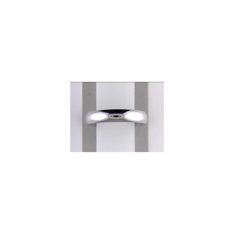 Pugh's Signature 14k White Gold Plain Wedding Band