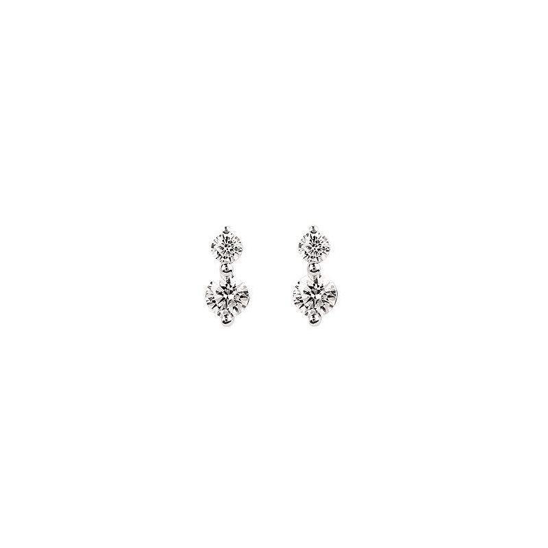 Ostbye Ladies' 14k White Gold Diamond Earrings