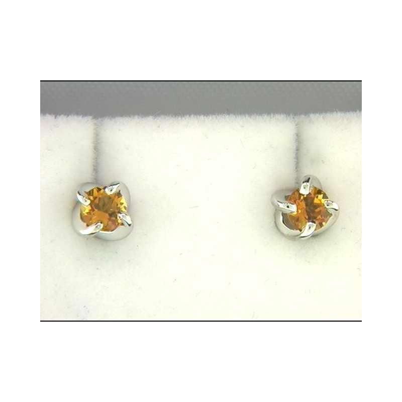 Ostbye Ladies' 14k White Gold Citrine Quartz Earrings