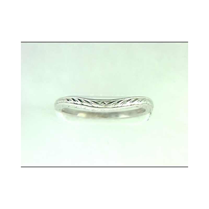 Pugh's Signature Ladies' 14k White Gold Wedding Ring
