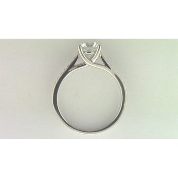 Ladies' 14k White Gold 6.5 Mm CZ Stone Diamond Semi Mount Ring