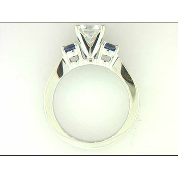 Ladies' 14k White Gold 6.5 Mm CZ Ring