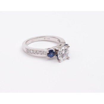 Ladies' 14k White Gold 6.5 Mm CZ Ring