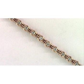Ladies' 10k Yellow Gold Diamond Bracelet