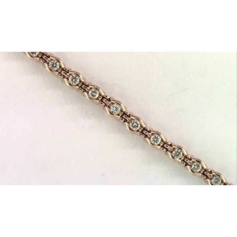 Pugh's Signature Ladies' 10k Yellow Gold Diamond Bracelet