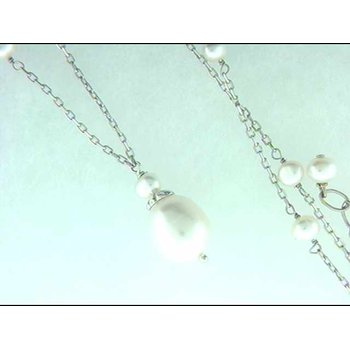 Sterling Freshwater Pearl Necklace