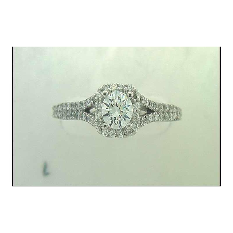 Pugh's Signature Ladies' 14k White Gold 1/2ct Cz Ring