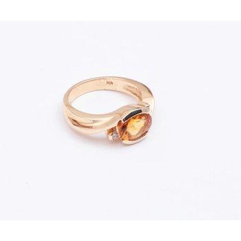 Ladies' 14k Yellow Gold Citrine Quartz Ring