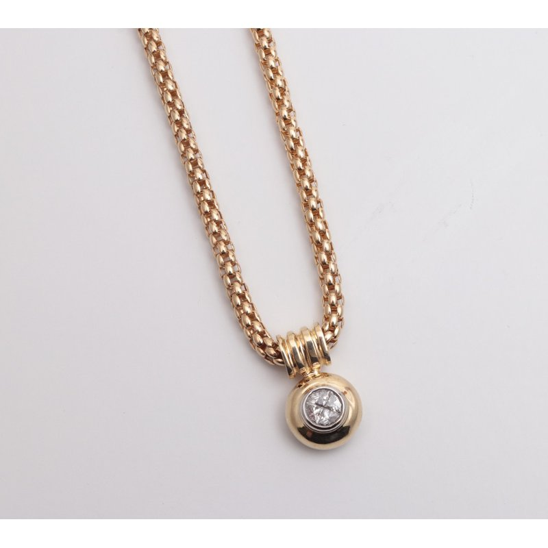 Pugh's Signature 14k Yellow Gold Diamond Pendant