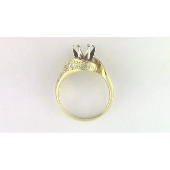 Ladies' 18k Yellow Gold Diamond Diamond Semi Mount Ring