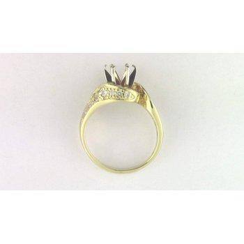 Ladies' 18k Yellow Gold Diamond Diamond Semi Mount Ring