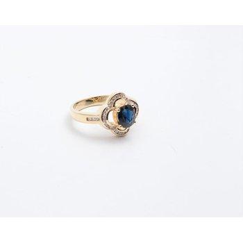 18k Yellow Gold Sapphire Ring
