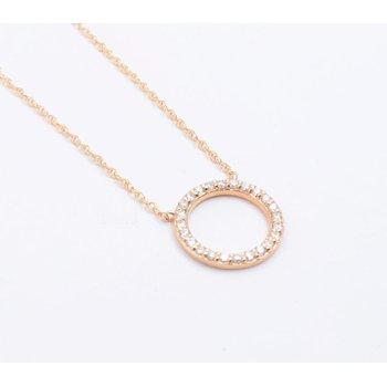 Ladies' 14k Yellow Gold Diamond Pendant