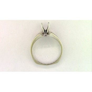 14k White Gold Diamond Semi Mount Ring