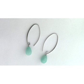 Sterling Amazonite Earrings