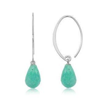 Sterling Amazonite Earrings