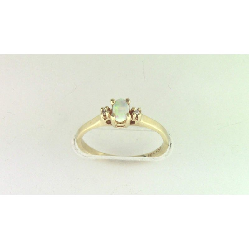 Pugh's Signature 10k Yellow Gold Opal Ring