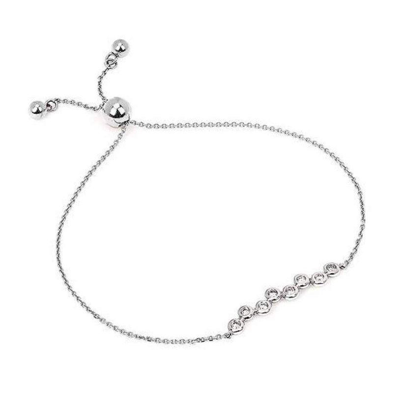 Ostbye Ladies' 14k White Gold Diamond Bracelet