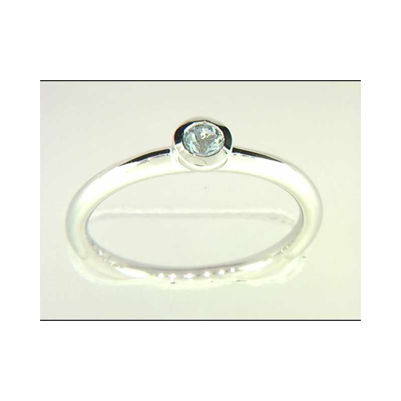 Ostbye 14k White Gold Colored Stone Ring