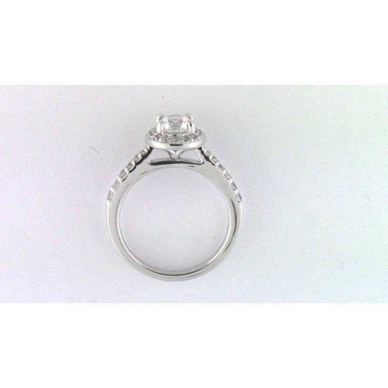 Pugh's Signature Ladies' 14k White Gold 6 Mm CZ Ring