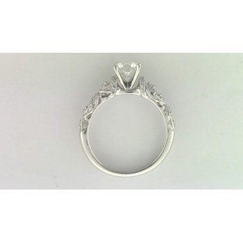 14k White Gold 6 Mm CZ Stone Ring