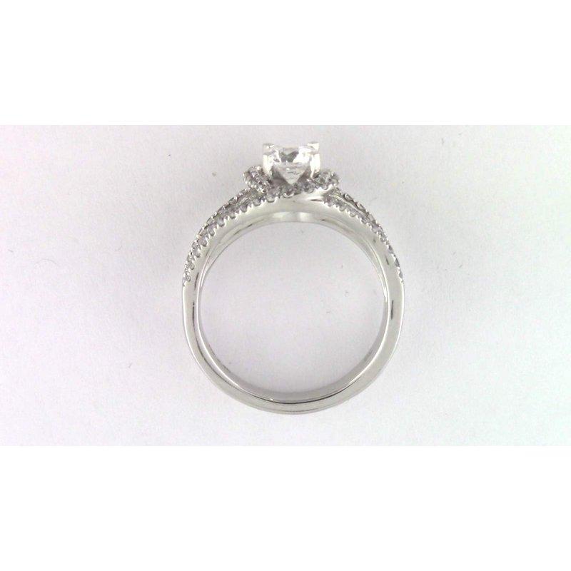 Pugh's Signature 14k White Gold 6 Mm CZ Semi Mount Ring