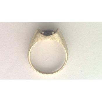Gentlemans' 10k Yellow Gold Black Star Sapphire Ring