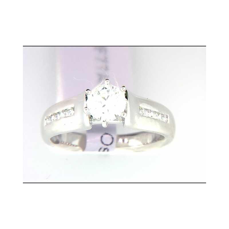 Ostbye Ladies' 14k White Gold CZ Stone Ring Mounting