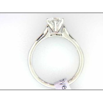 Ladies' 14k White Gold CZ Stone Ring Mounting