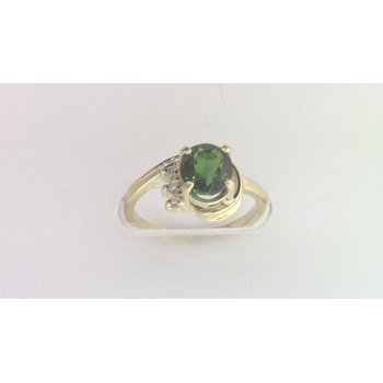 Ladies' 14k Yellow Gold Green Tourmaline Ring