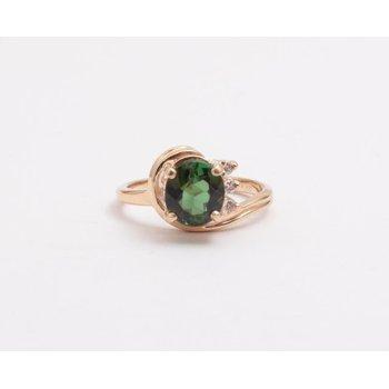 Ladies' 14k Yellow Gold Green Tourmaline Ring