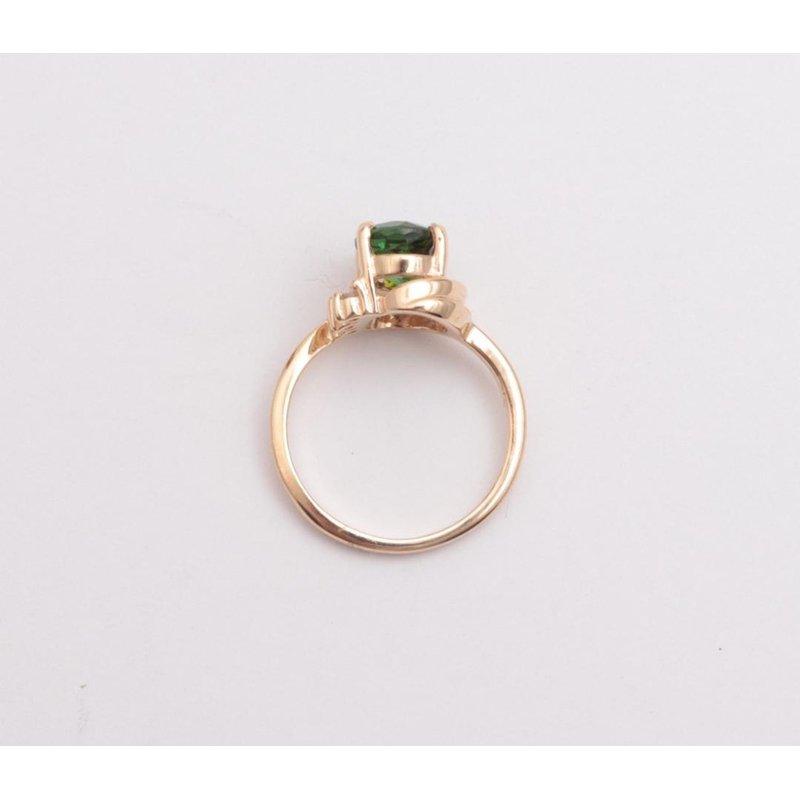 Pugh's Signature Ladies' 14k Yellow Gold Green Tourmaline Ring
