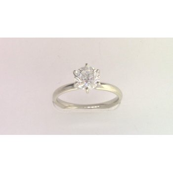 14k White Gold Moissanite Ring