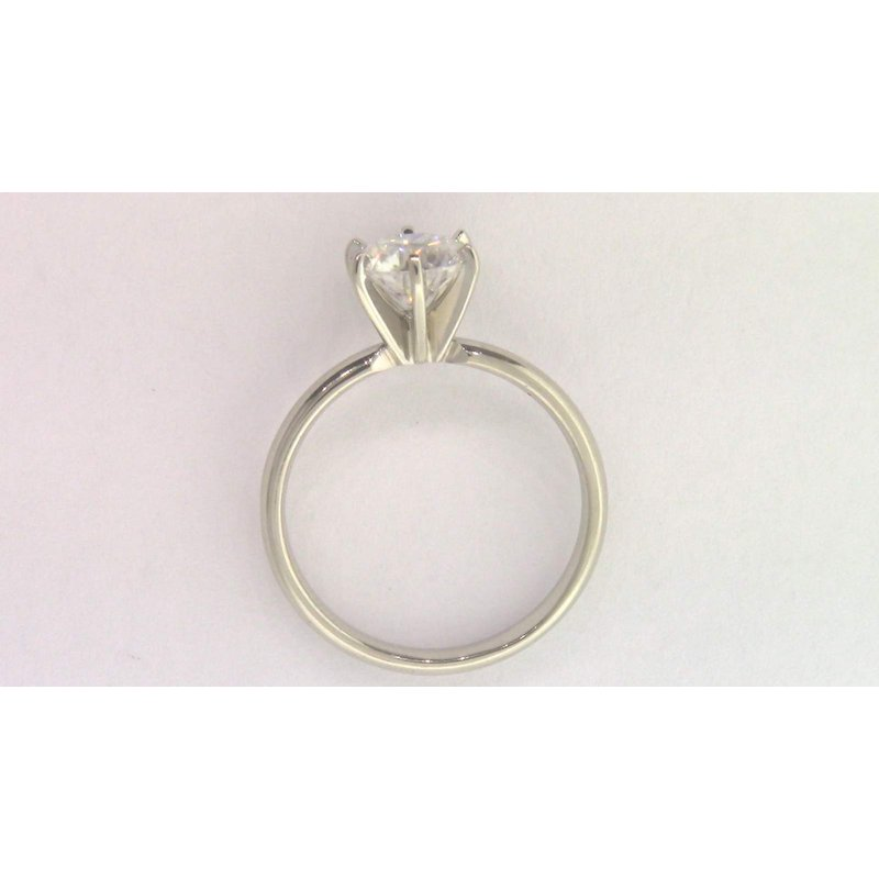 Pugh's Signature 14k White Gold Moissanite Ring