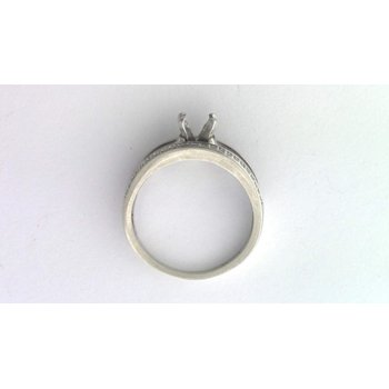 14k White Gold Diamond Ring Mounting