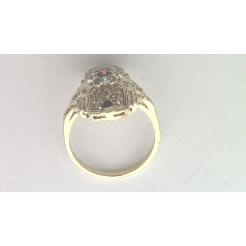 Pugh's Signature 10k Yellow Gold Ruby Ring