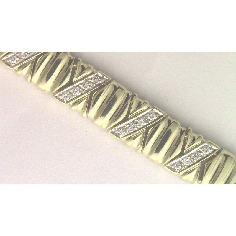 Pugh's Signature 14k White And Yellow Gold Diamond Bracelet