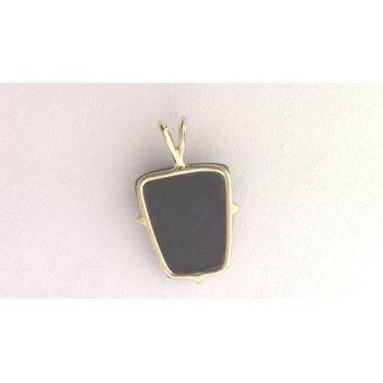 14k Yellow Gold Drusy Quartz Pendant