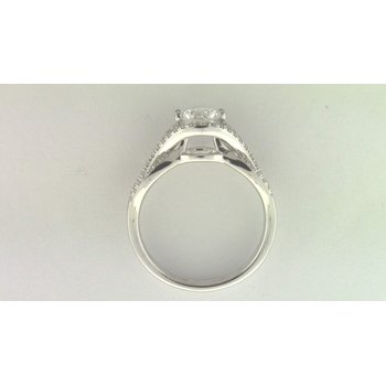 Ladies' 14k White Gold 6.5 Mm CZ Stone Diamond Semi Mount Ring