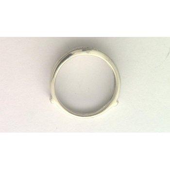 14k White Gold Diamond Guard/insert