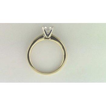Ladies' 14k White Gold CZ Stone Ring