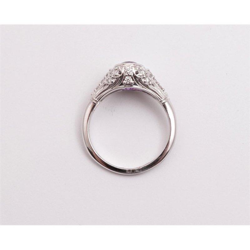 Pugh's Signature Ladies' 14k White Gold Amethyst Ring