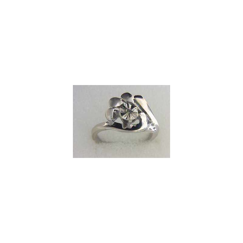 Pugh's Signature 14k White Gold Ring Mounting