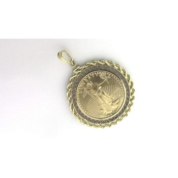 14k Yellow Gold Coin Holder